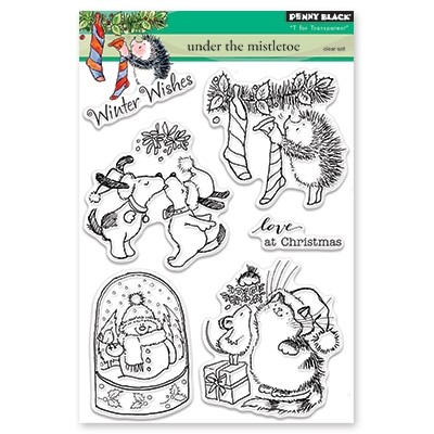 Penny Black - Clear Stamp - Under the Mistletoe
