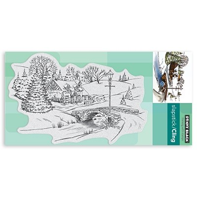 Penny Black - Slapstick Cling Stamp - Peaceful Village