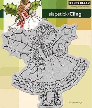 Penny Black - Slapstick Cling Stamp - Fairy Holly