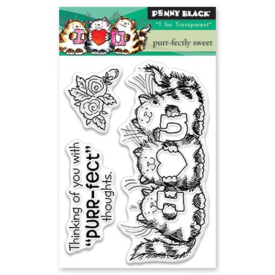 Penny Black - Clear Stamp - Purr-fectly Sweet