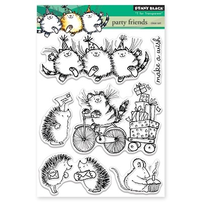 Penny Black - Clear Stamp - Party Friends