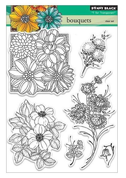 Penny Black - Clear Stamp - Bouquets