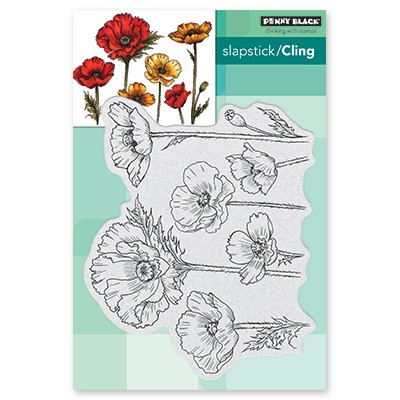Penny Black - Slapstick Cling Stamp - Parade Of Flowers