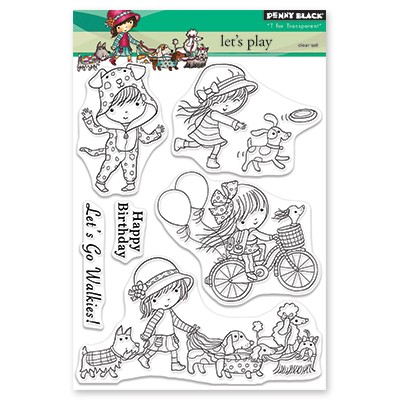 Penny Black - Clear Stamp - Let's Play