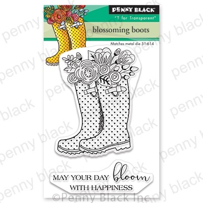 Penny Black - Clear Stamp - Blossoming Boots