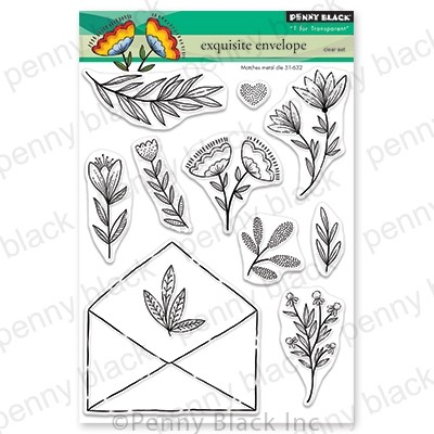 Penny Black - Clear Stamp - Exquisite Envelope