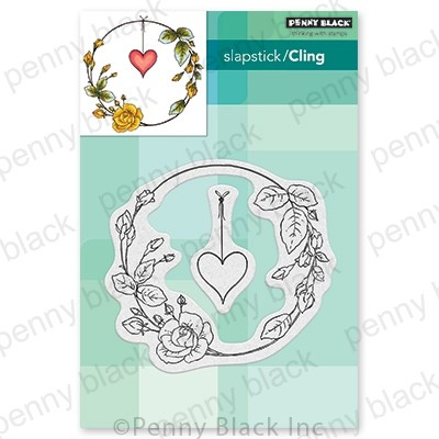 Penny Black - Slapstick Cling Stamp - Rose Romance