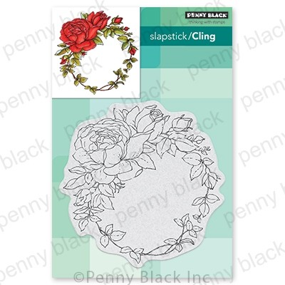Penny Black - Slapstick Cling Stamp - Winsome Wreath