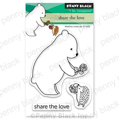 Penny Black - Clear Stamp - Share the Love