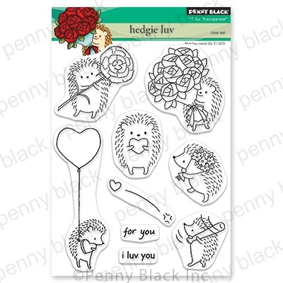 Penny Black - Clear Stamp - Hedgie Luv