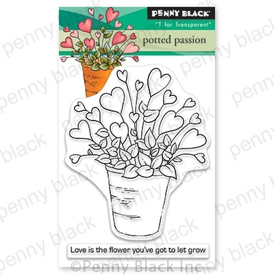 Penny Black - Clear Stamp - Potted Passion