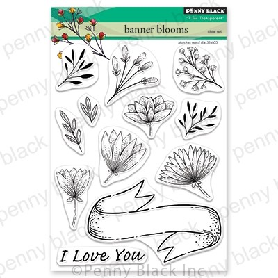 Penny Black - Clear Stamp - Banner Blooms