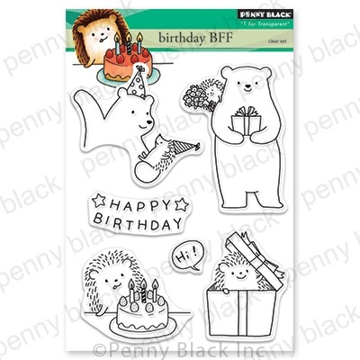Penny Black - Clear Stamp - Birthday BFF