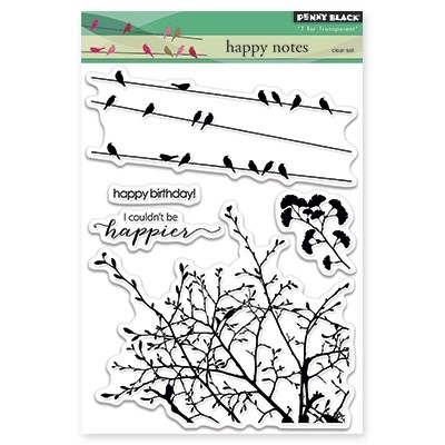 Penny Black - Clear Stamp - Happy Notes
