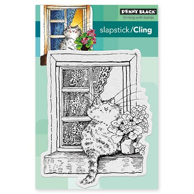 Penny Black - Slapstick Cling Stamp - The Lookout