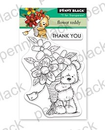 Penny Black - Clear Stamp - Flower Teddy