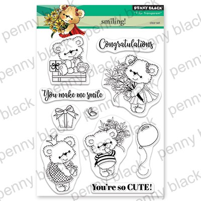 Penny Black - Clear Stamp - Smiling!