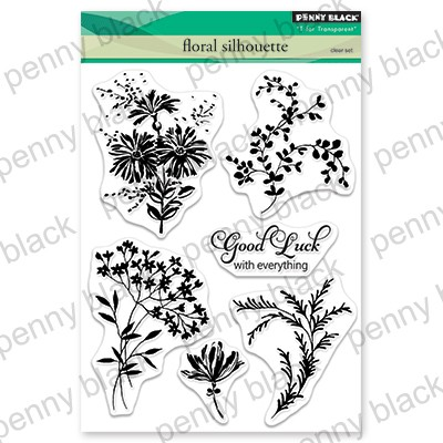 Penny Black - Clear Stamp - Floral Silhouette