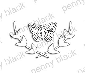 Penny Black - Die - Butterfly & Leaves