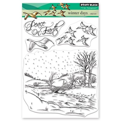 Penny Black - Clear Stamp - Winter Days