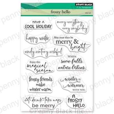 Penny Black - Clear Stamp - Frosty Hello