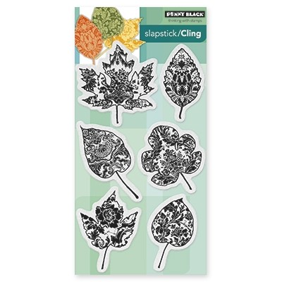 Penny Black - Slapstick Cling Stamp - Filigree Foliage