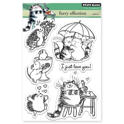 Penny Black - Clear Stamp - Furry Affection