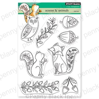 Penny Black - Clear Stamp - Acorns & Animals