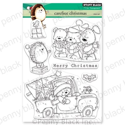 Penny Black - Clear Stamp - Carefree Christmas