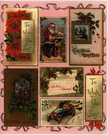 Penny Black - Sticker Sheet - Vintage Santa