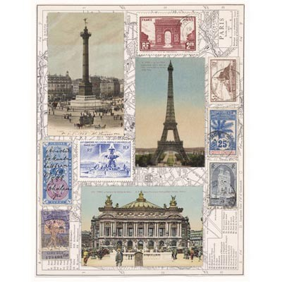 Penny Black - Sticker Sheet - Lovely Paris