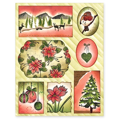 Penny Black - Sticker Sheet - Christmas Collage