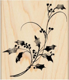 Penny Black Wood Stamp - Winter Bough
