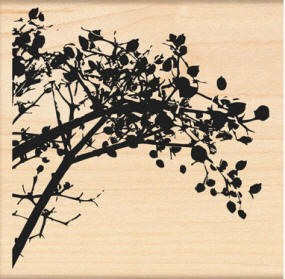Penny Black Wood Stamp - Berry Branch