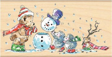 Penny Black Wood Stamp - Snow Squad :)