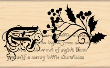 Penny Black Wood Stamp - ...A Merry Little Christmas  :)