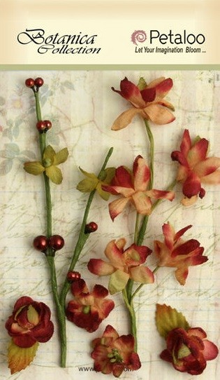 Petaloo - Botanica Collection - Floral Ephemera - Cranberry