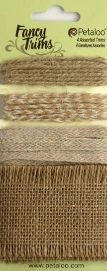 Petaloo -Burlap Trims - 2.25 yards - Natural