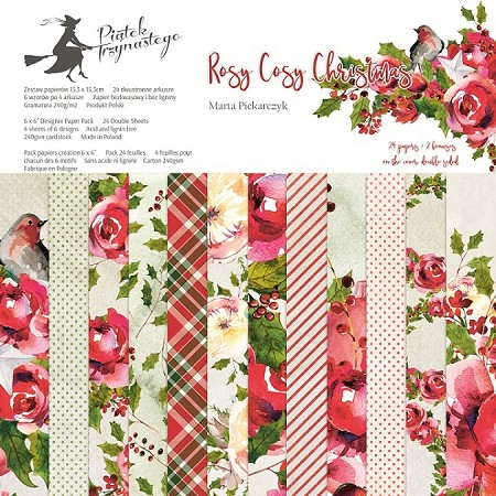 "Piatek 13 - Rosy Cosy Christmas Collection - 6""x6"" Paper Pad"
