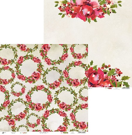 "Piatek 13 - Rosy Cosy Christmas Collection - 12""x12"" Cardstock - No. 6"
