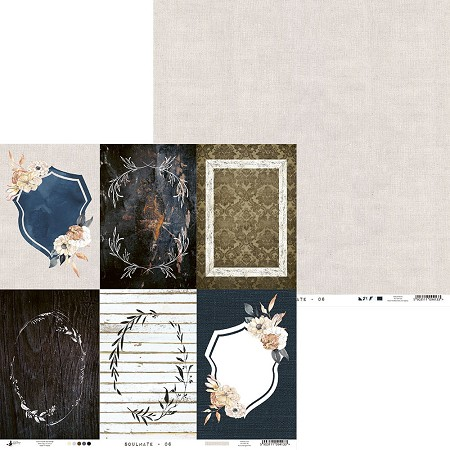 "Piatek 13 - Soulmate Collection - 12""x12"" Cardstock - No. 6"