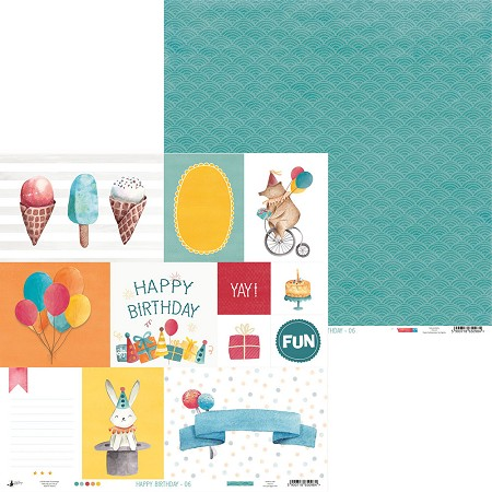 "Piatek 13 - Happy Birthday Collection - 12""x12"" Cardstock - No. 6"