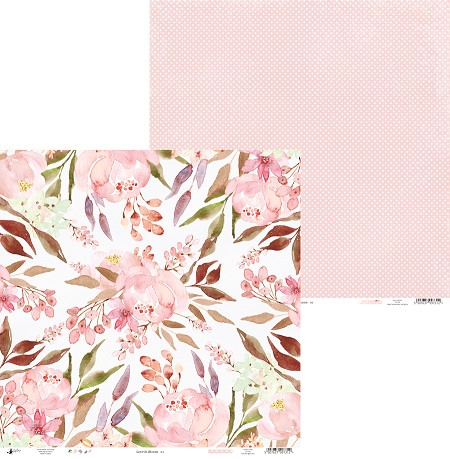 "Piatek 13 - Love In Bloom Collection - 12""x12"" Cardstock - No. 1"