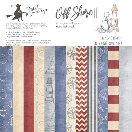 "Piatek 13 - Off Shore II Collection - 6""x6"" Paper Pad"
