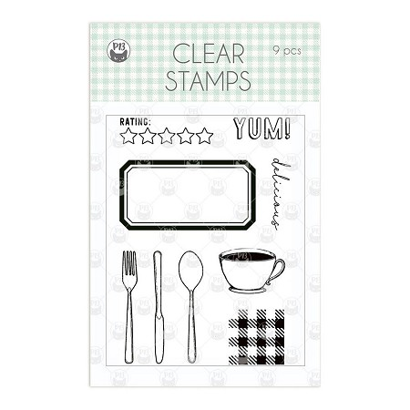 Piatek 13 - Around the Table - Clear Stamp