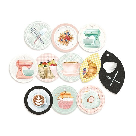 Piatek 13 - Around the Table - Decorative Tags (round ephemera)