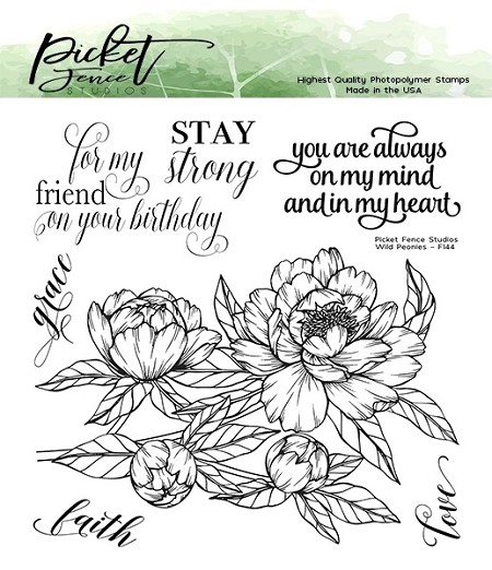 Picket Fence Studios - Wild Peonies Clear Stamps