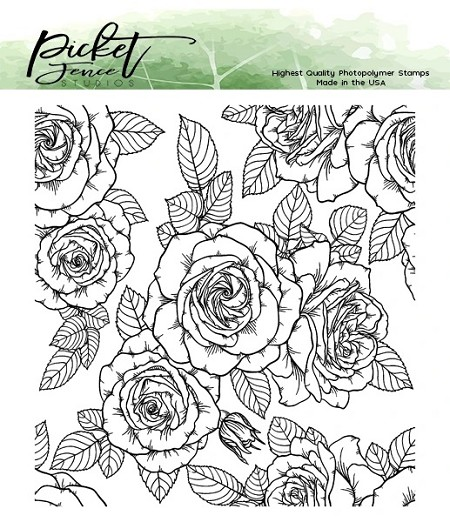 Picket Fence Studios - Roses For All Seasons Clear Stamps