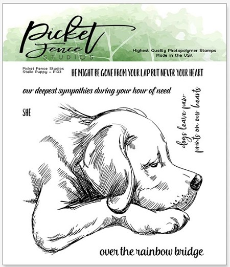 Picket Fence Studios - Stella Puppy Clear Stamps