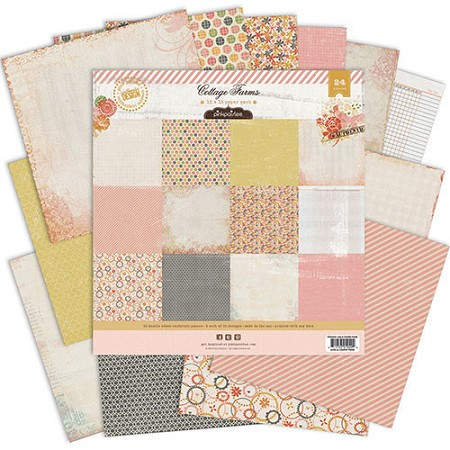 "Pink Paislee - Cottage Farms Collection -  12""x12"" Paper Pack"